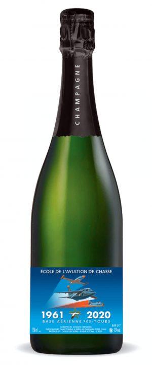 Édition Spéciale Bouteille de Champagne Cuvée École de l'Aviation Chasse de Tours - Champagne Douard