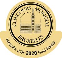 Médaille d'or 2020 du Concours Mondial de Bruxelles Cuvée Prestige